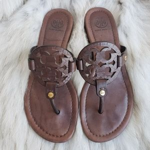 Tory Burch Chocolate Brown Millers Size 6M